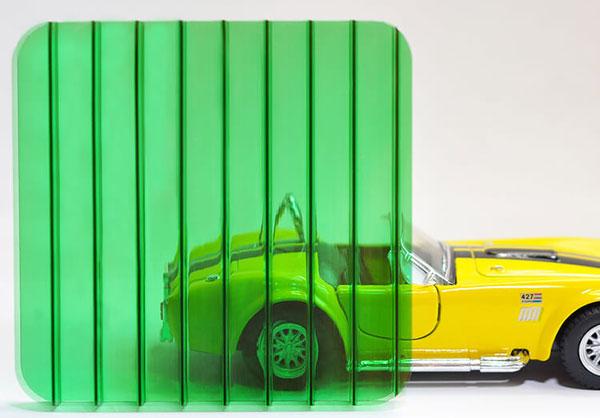 Полікарбонат стільниковий (сотовий) 10мм зелений OSCAR Сербія